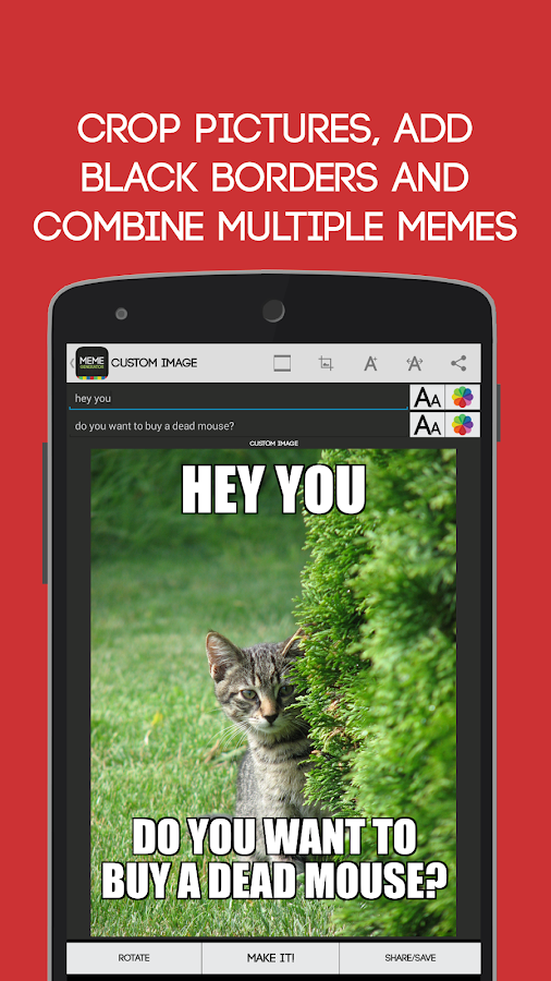 Meme Generator (old design)- screenshot