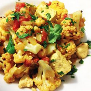 Tofu, Cauliflower and Chickpea Curry Recipe