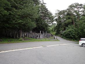 登山口前に駐車場