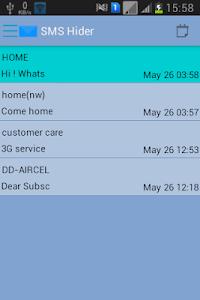 SMS Hider screenshot 2