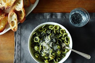 Kale Pesto Orecchiette & The Gin Hound.