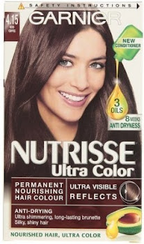 Garnier Nutrisse Permanent Hair Dye - 4.15 Iced Coffee Brown