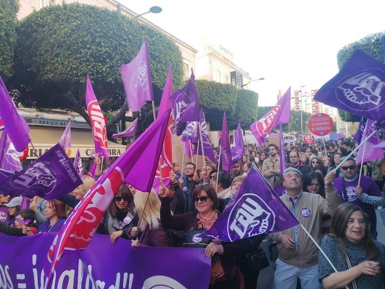 Sindicatos representados en la marcha.