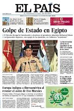 Photo: En nuestra portada del jueves 4 de julio de 2013: Golpe de Estado en Egipto; Europa indigna a Iberoamérica al retener el avión de Evo Morales; y en Vida & Artes: Un 'dron' en el jardín de su casa http://srv00.epimg.net/pdf/elpais/1aPagina/2013/07/ep-20130704.pdf