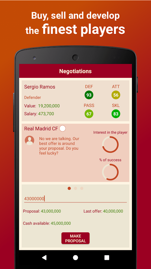 Screenshot 1 Be the Manager 2018 - Football Strategy 2.2.3 APK MOD