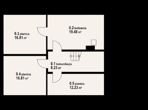 Jaworowo 7k - Rzut piwnicy