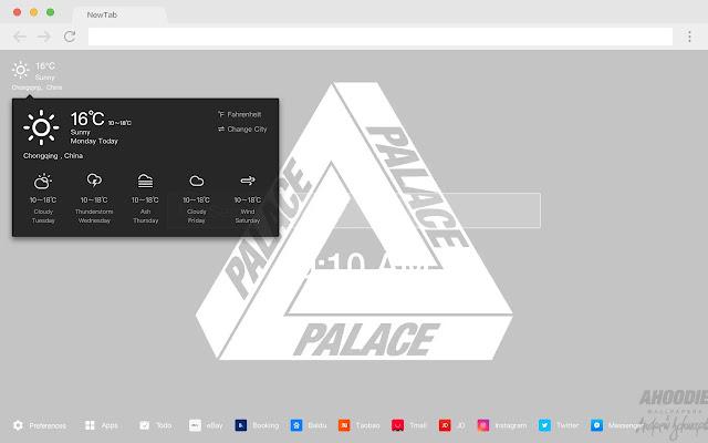Palace HD New Tab Skateboards Theme