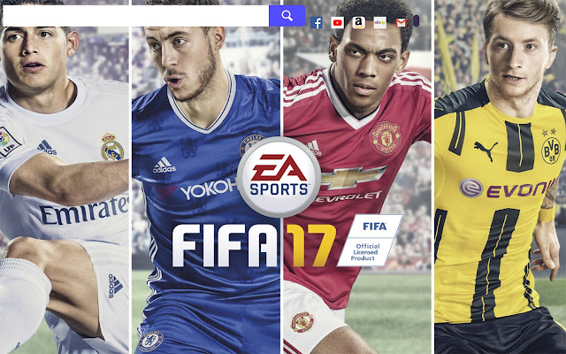 FIFA 2017 Game HD Wallpapers New Tab