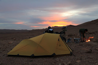 Photo: Wild camping on stones in Morocco
