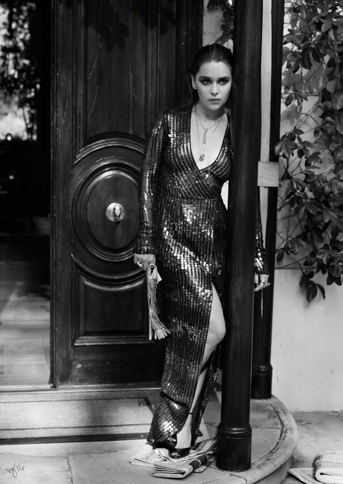 Эмилия Кларк в фотосессии Violet Grey, черно-белое