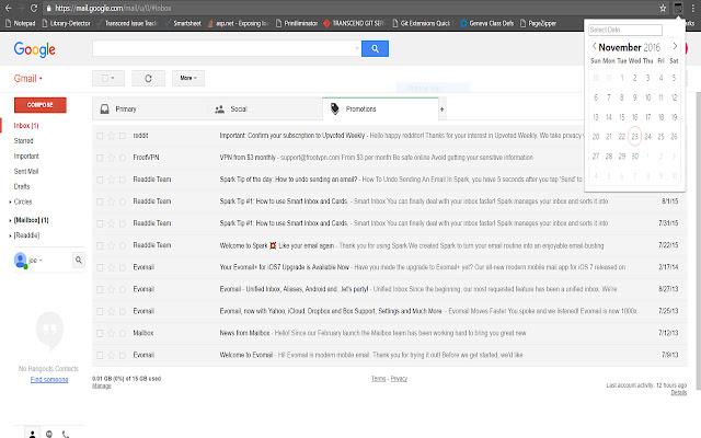GGTD - Gmail GOTO Date