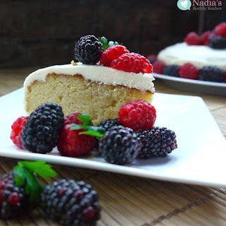 Healthy Gluten Free Birthday Cake.