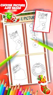 Vánoční omalovánky k vytisknut - náhled