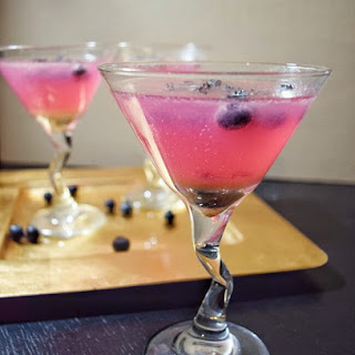 Sugar Free Ginger Berry Martini.