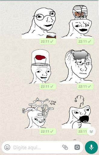 Brainlet Meme stickers WAStickerApps download 1