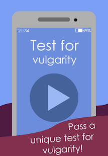 Download Test for vulgarity For PC Windows and Mac apk screenshot 1
