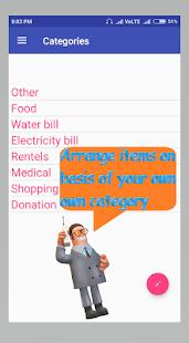 Expense Monitor - náhled