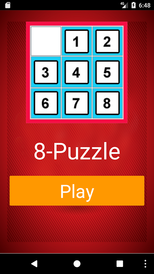 Eight Puzzle Game- screenshot