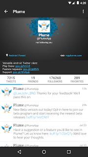 Plume for Twitter screenshot 00