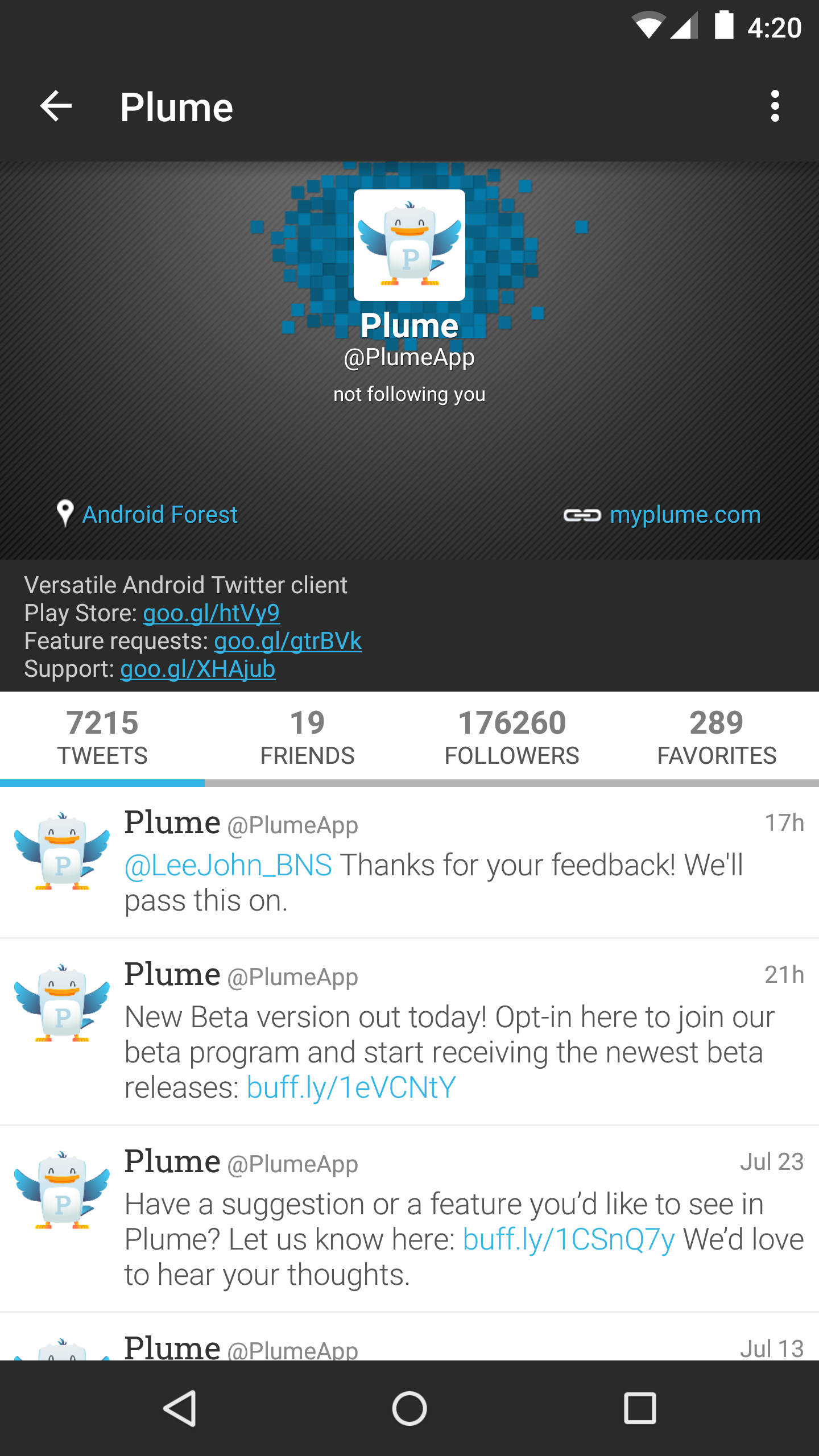 Plume for Twitter image #1