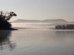 Photo: The mist rising off the lake at Kabini