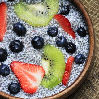 Chia Pudding with Fresh Fruit.