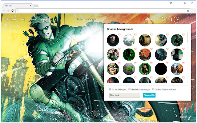 Green Arrow HD Wallpaper DC New Tab Themes