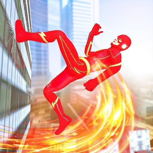 Herói da velocidade do flash: jogos simulador