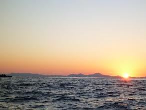 Photo: ようやく日の出。 只今、7時20分。