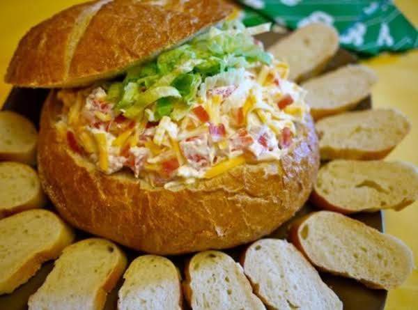 Game-day Turkey Club Bread Bowl Dip