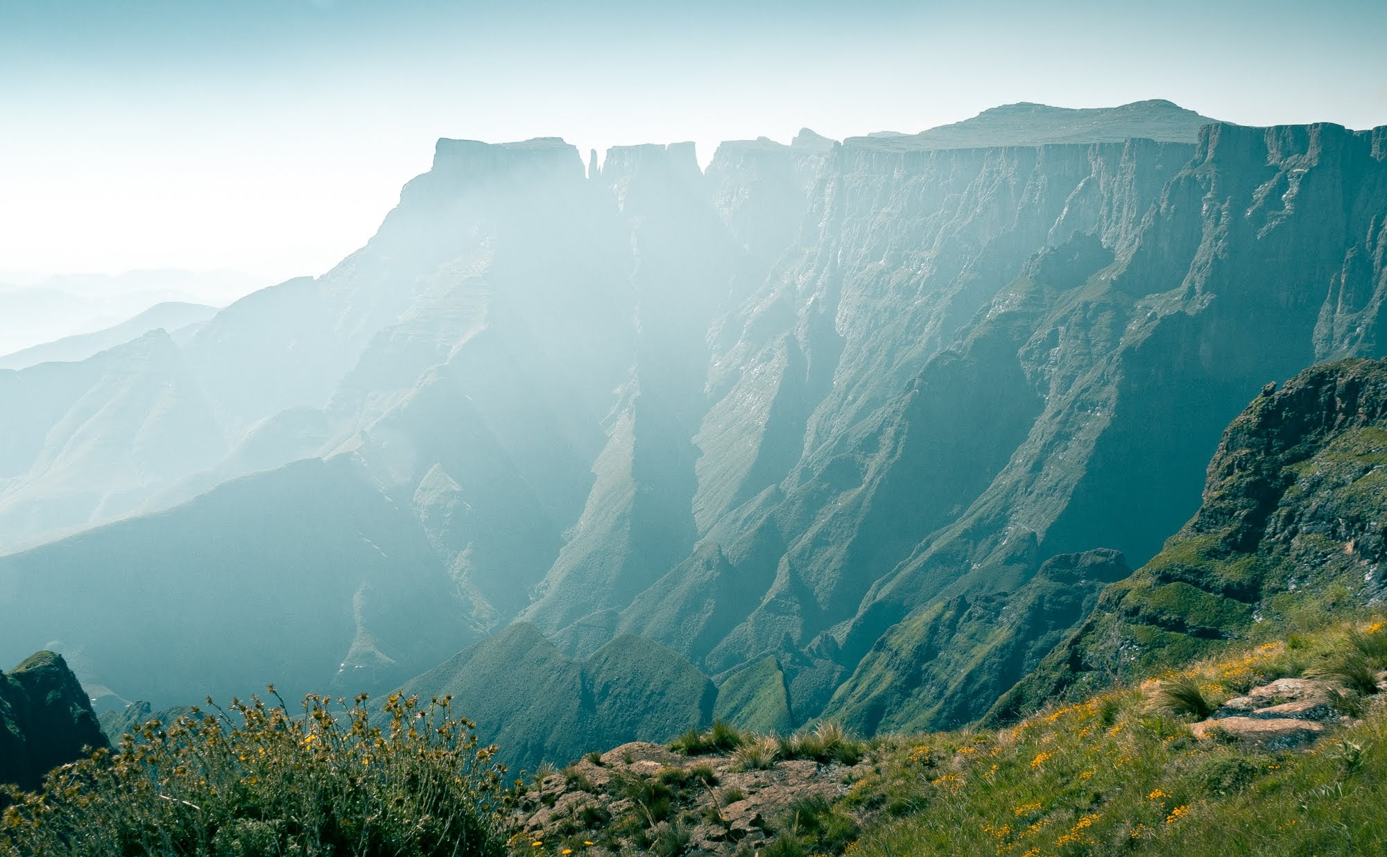 The amphitheatre section of the Drakensberg Mountain