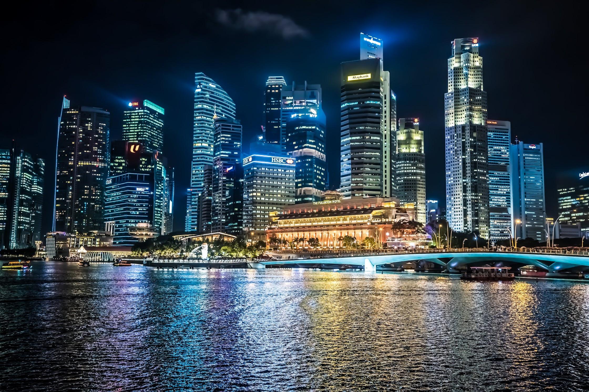 シンガポール マリーナ地区 夜1