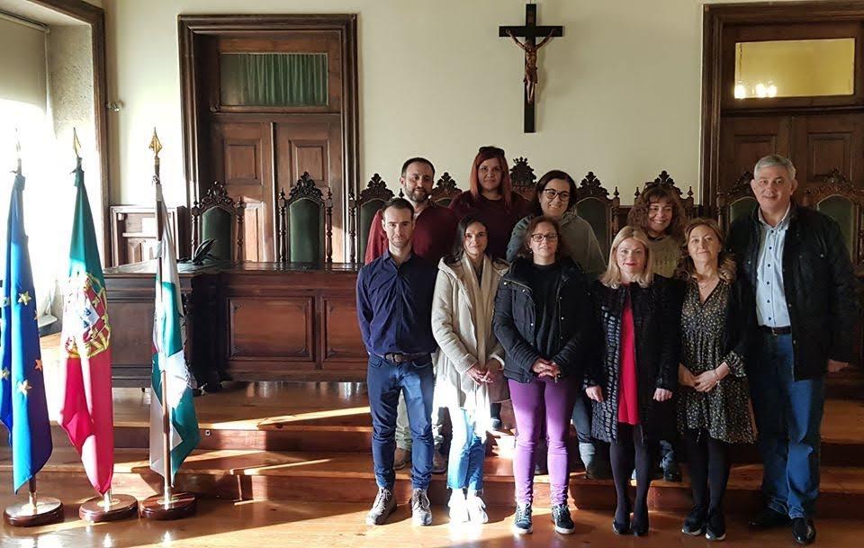 Participantes da Mobilidade Erasmus + recebidos na Câmara de Lamego