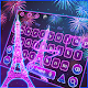Neon Paris Eiffel Tower Keyboard Theme APK