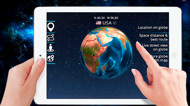 Download 3d Earth Globe World Map Panorama 360 Satellite Apk