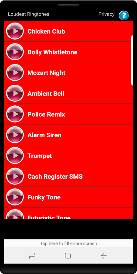 Loudest Ringtones- screenshot