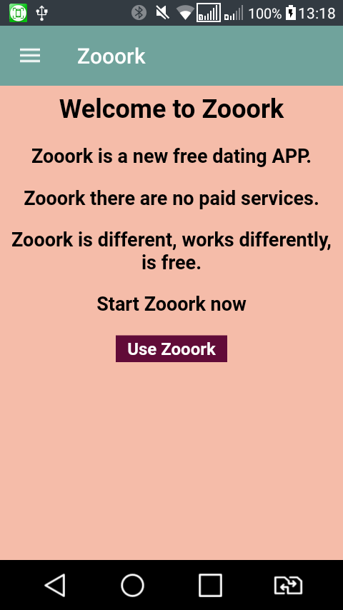 Dating APP Zooork - free- screenshot
