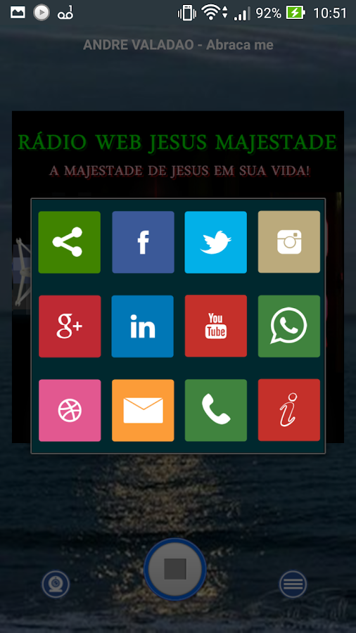 Rádio Web Jesus Majestade: captura de tela