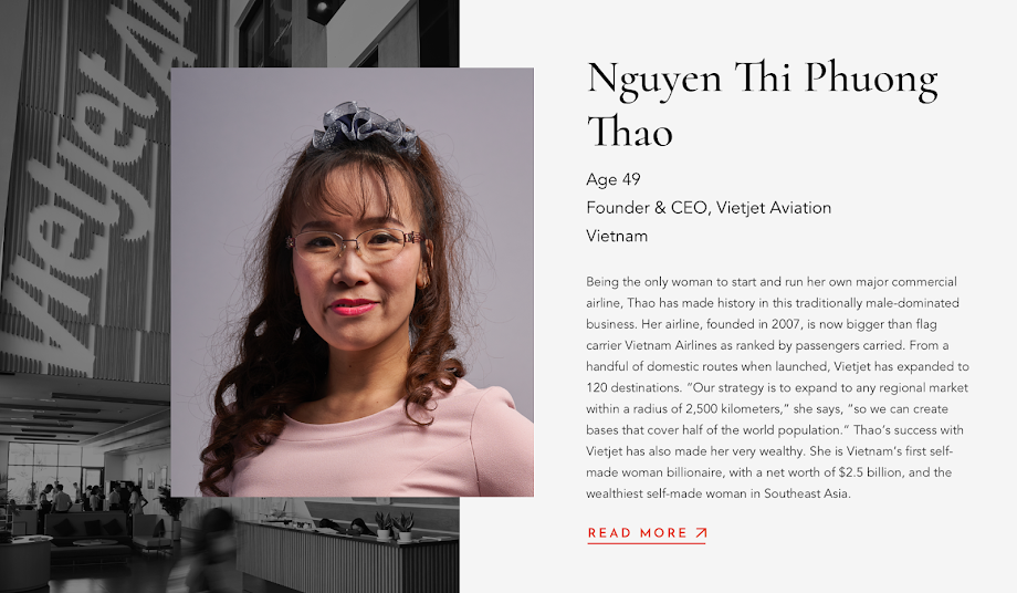 CEO Vietjet Nguyễn Thị Phương Thảo