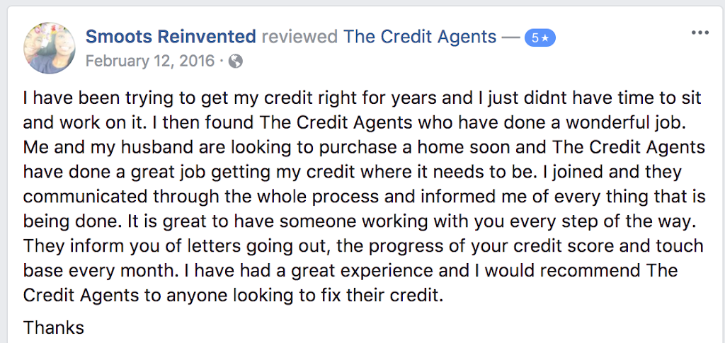 the credit agents reviews