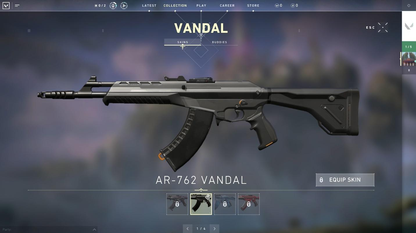 Vandal rifle top weapons in valorant