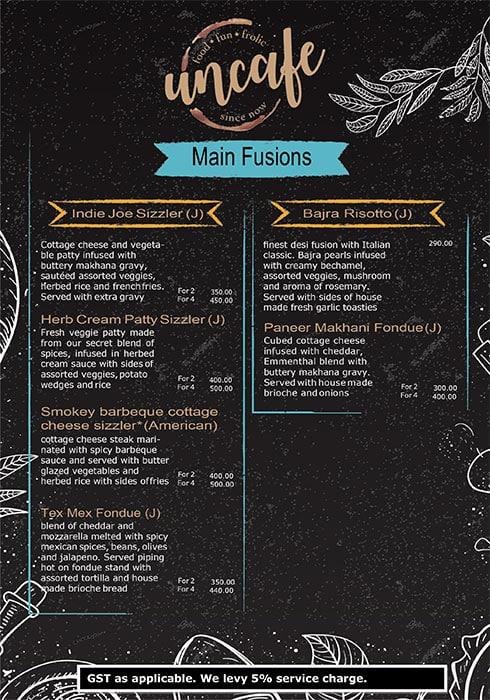 Uncafe menu 13
