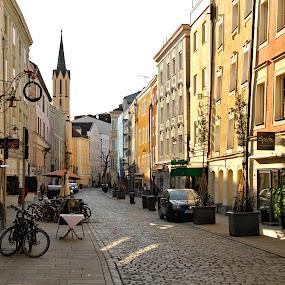 Passau, Germany by Oleksii Liebiediev - City,  Street & Park  Historic Districts ( deutschland, europe, passau, street, germany,  )