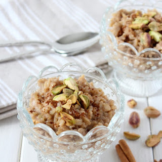 Chai Spiced Brown Rice Pudding.