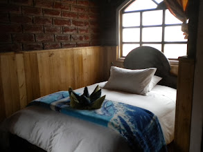 Photo: This bed at the Hosteria Alpaka was comfortable and warm!