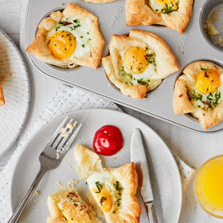 Mini Bacon & Egg Pies.