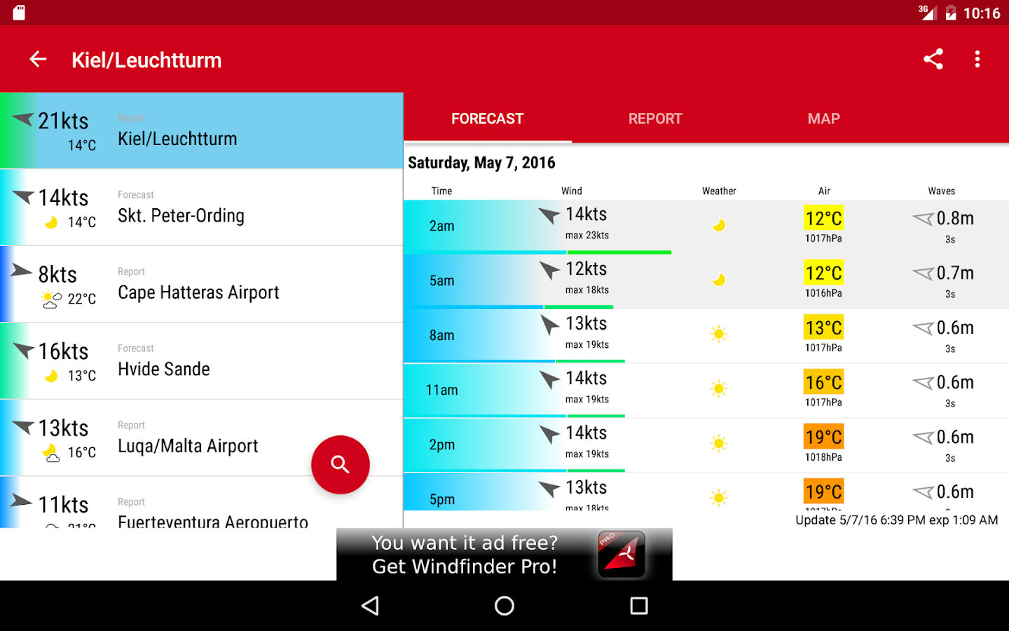 Windfinder- screenshot