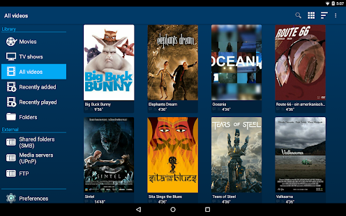 Archos Video Player Screenshot