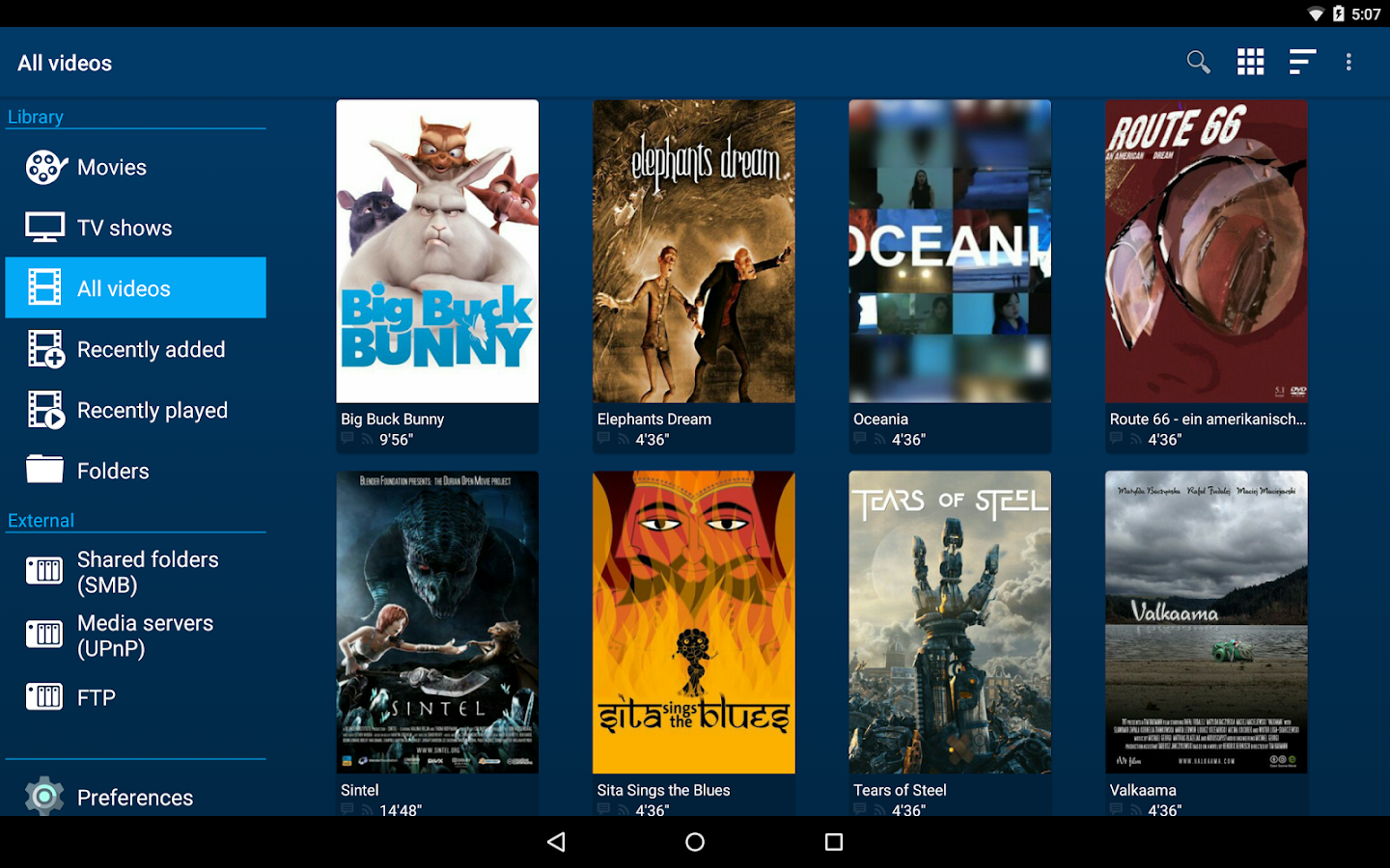 Archos Video Player- screenshot