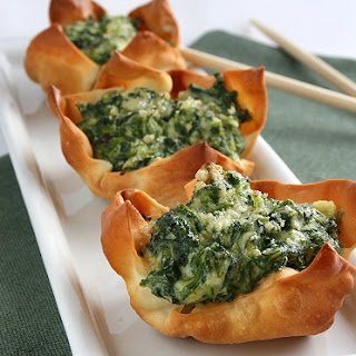 RICOTTA-SPINACH CUPS.